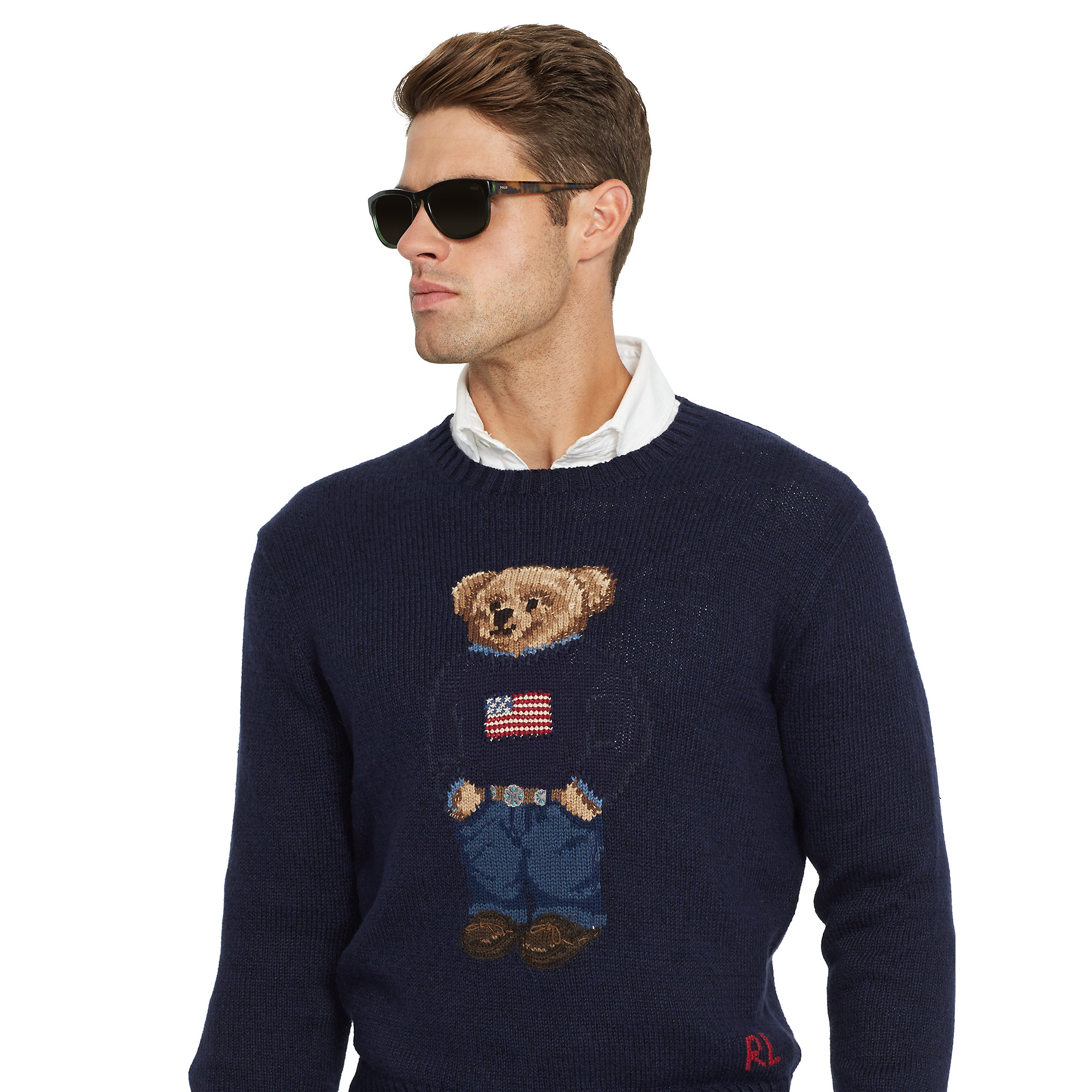 Polo ralph lauren Flag Polo Bear Sweater in Blue for Men | Lyst