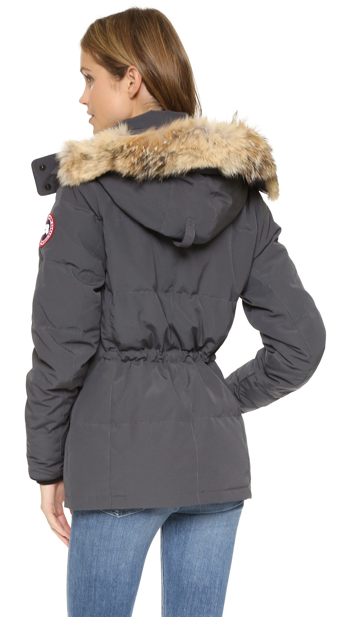 80084d96c991 Canada Goose Chelsea Parka - Graphite in Gray - Lyst
