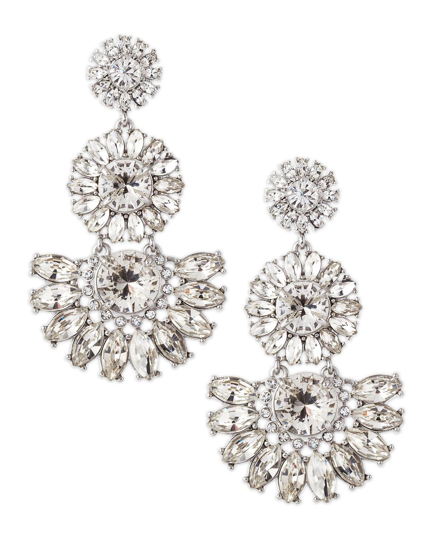5f9431fff6c6d Lyst - Kate Spade Estate Garden Earrings White in Metallic