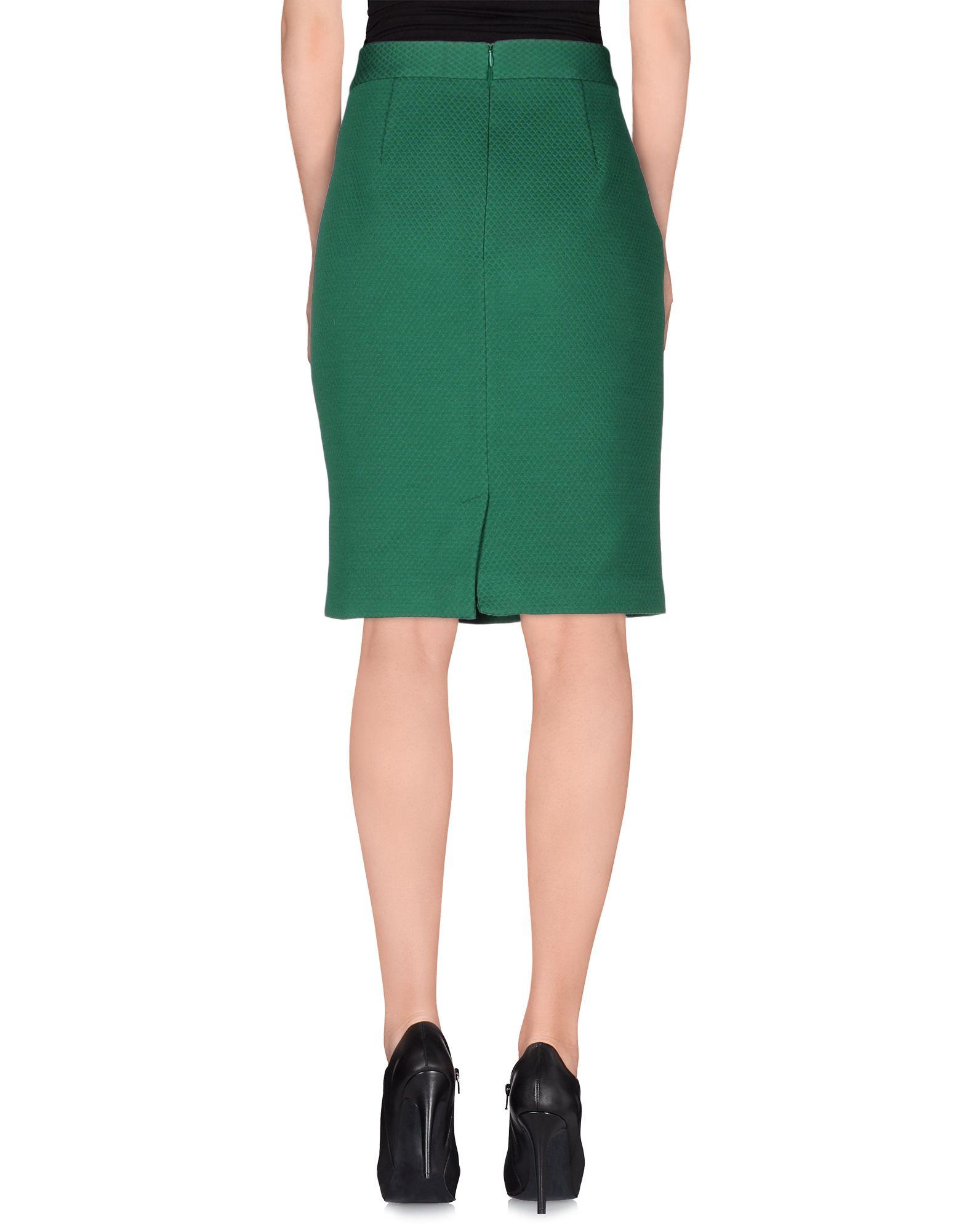 m missoni knee length skirt in green lyst