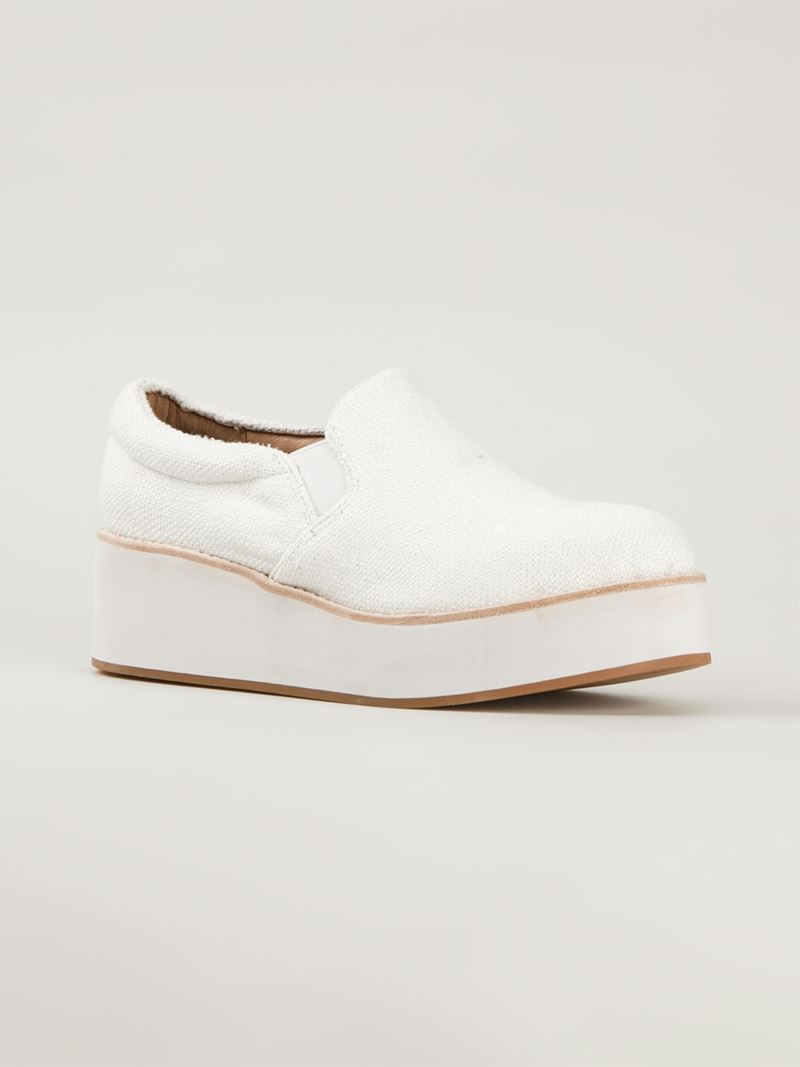 Jeffrey Campbell Flatform Loafers In White Lyst