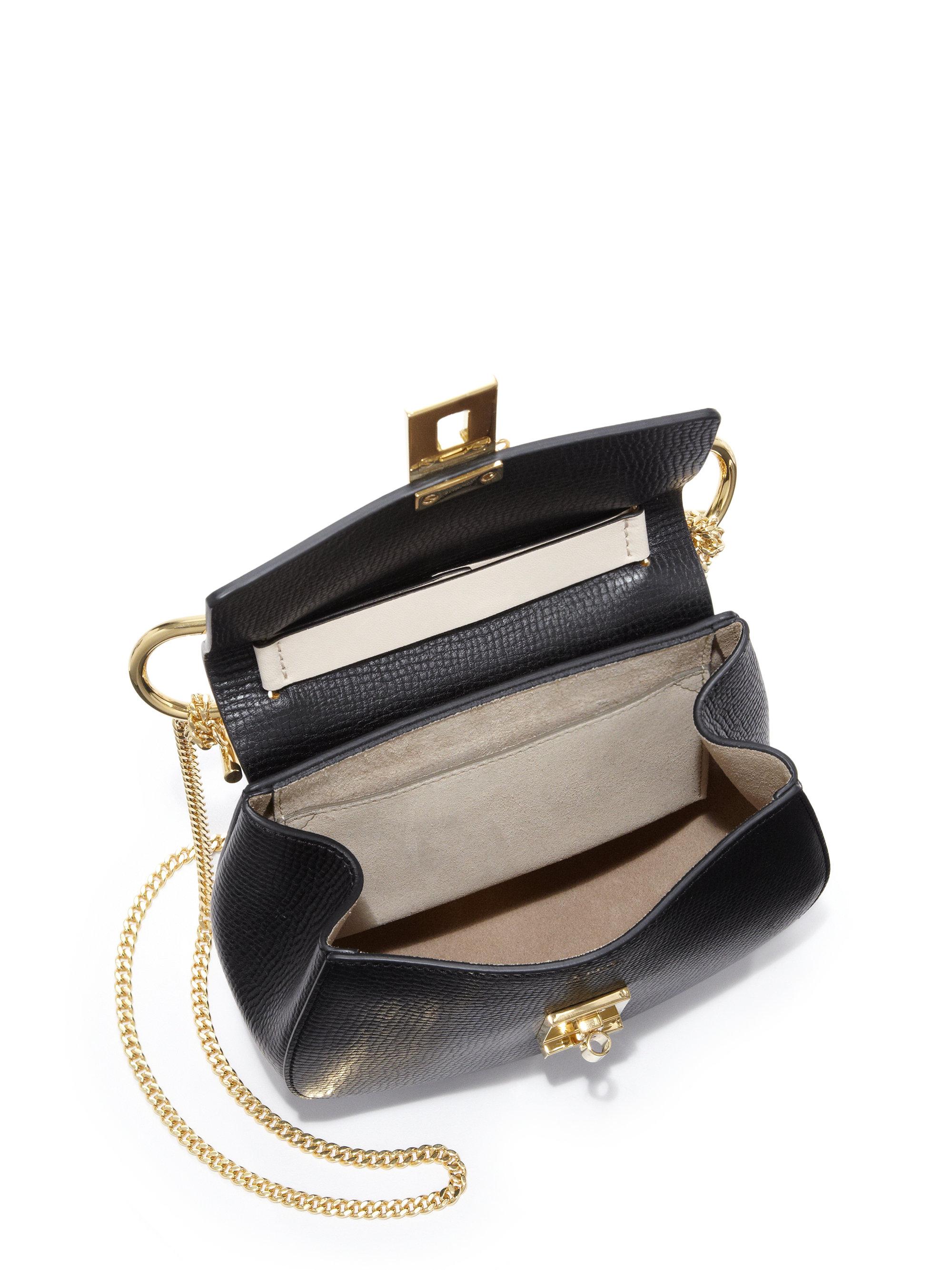 Chlo¨¦ Drew Mini Bicolor Crossbody Bag in Black (BLACK-CREAM)   Lyst
