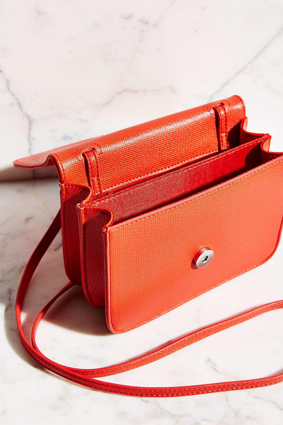 ecf3b573085e9 Lyst - Silence + Noise Mini Textured Crossbody Bag in Orange