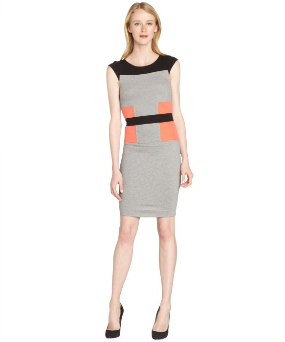 French connection colorblock sweater dress
