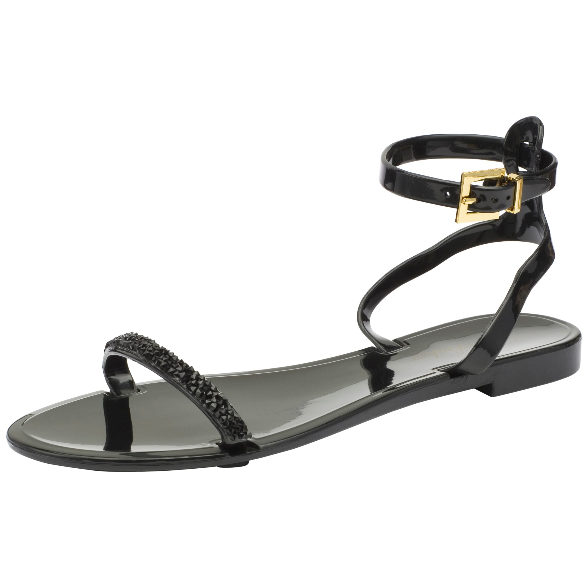 3403f1409ab3a1 ... Ted Baker Amorpha Ankle Strap Jelly Sandals in Black - Lyst exquisite  design 532d8 e6902  Sales Promotion Ted Baker Verona Jelly T-Bar Sandals -  Canada ...