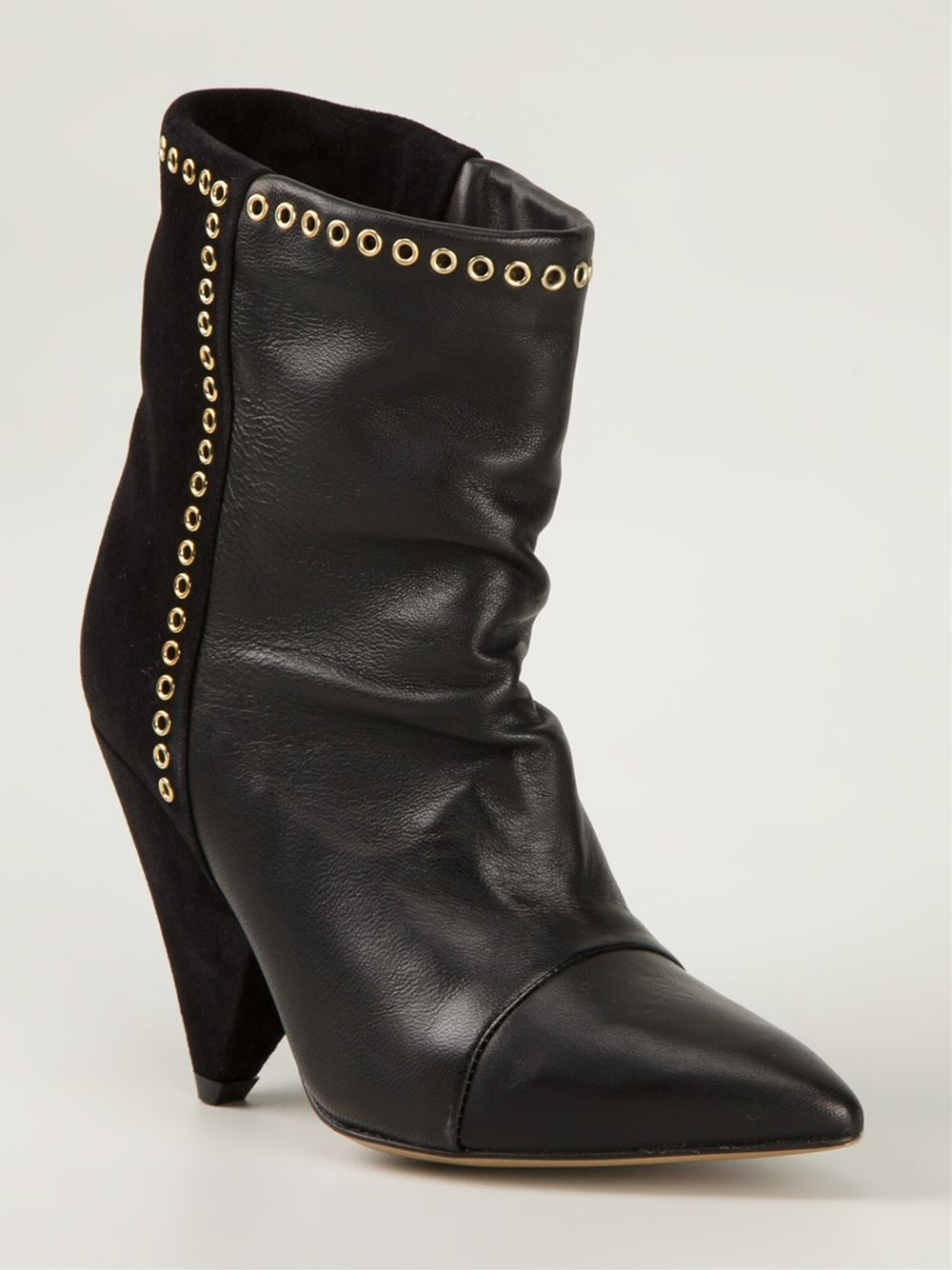 Lyst Isabel Marant Lance Eyelet Boots In Black