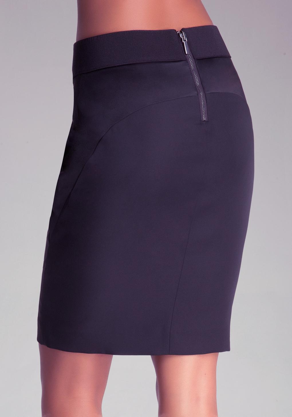 bebe slit pencil skirt in black lyst