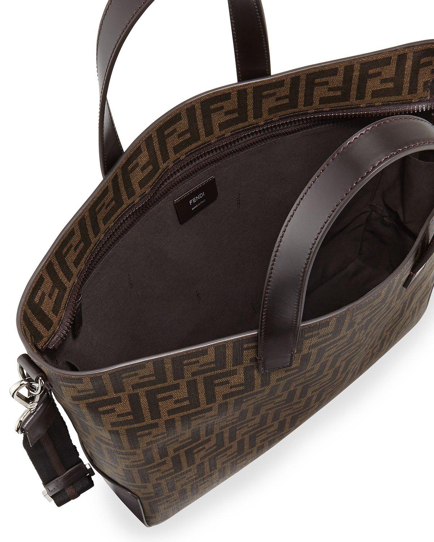 Fendi Men S Zucca Canvas Tote Bag In Brown Lyst