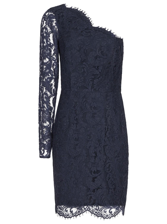e56cd84c284e Reiss Leticia Asymmetric Lace Dress in Blue - Lyst