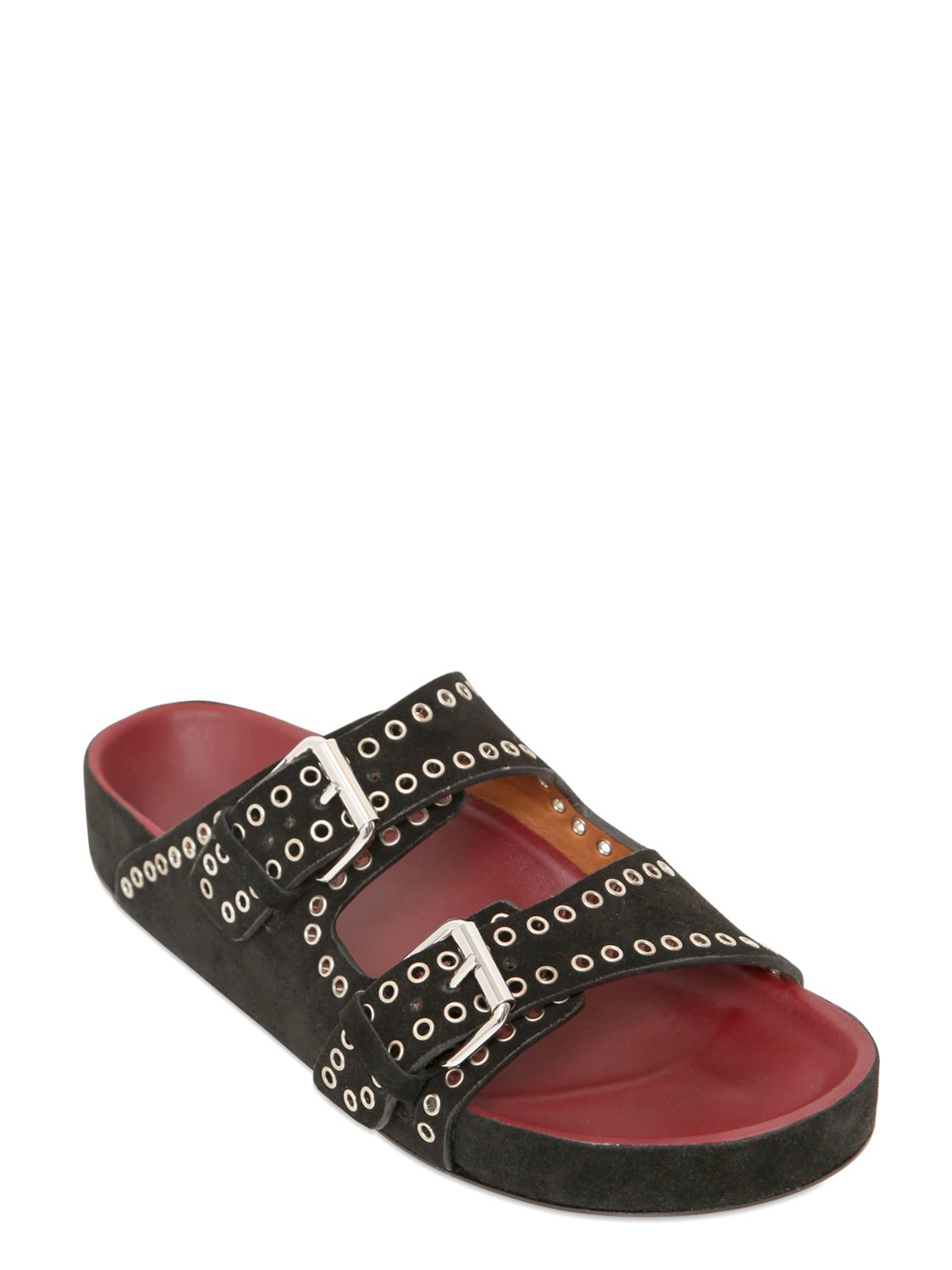 Isabel Marant Lenny Slide Sandals 2015 cheap price cheap sale outlet store outlet fake cheap wiki sale latest collections onjyw