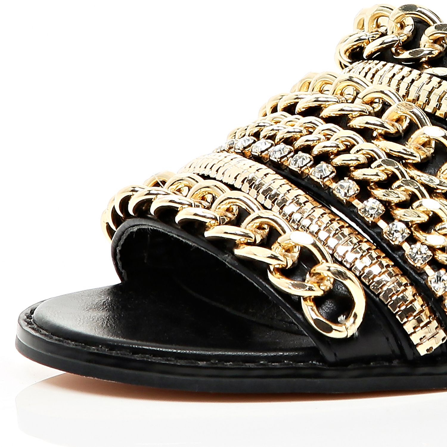 Black sandals in river island