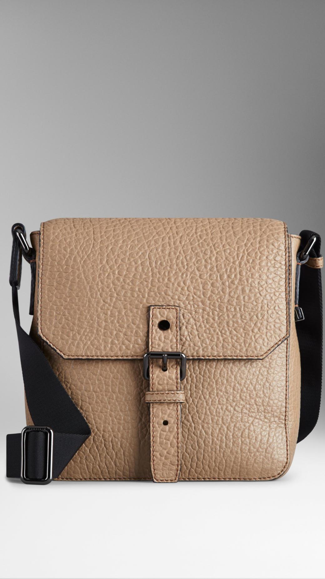 Lyst Burberry Signature Grain Leather Crossbody Bag In