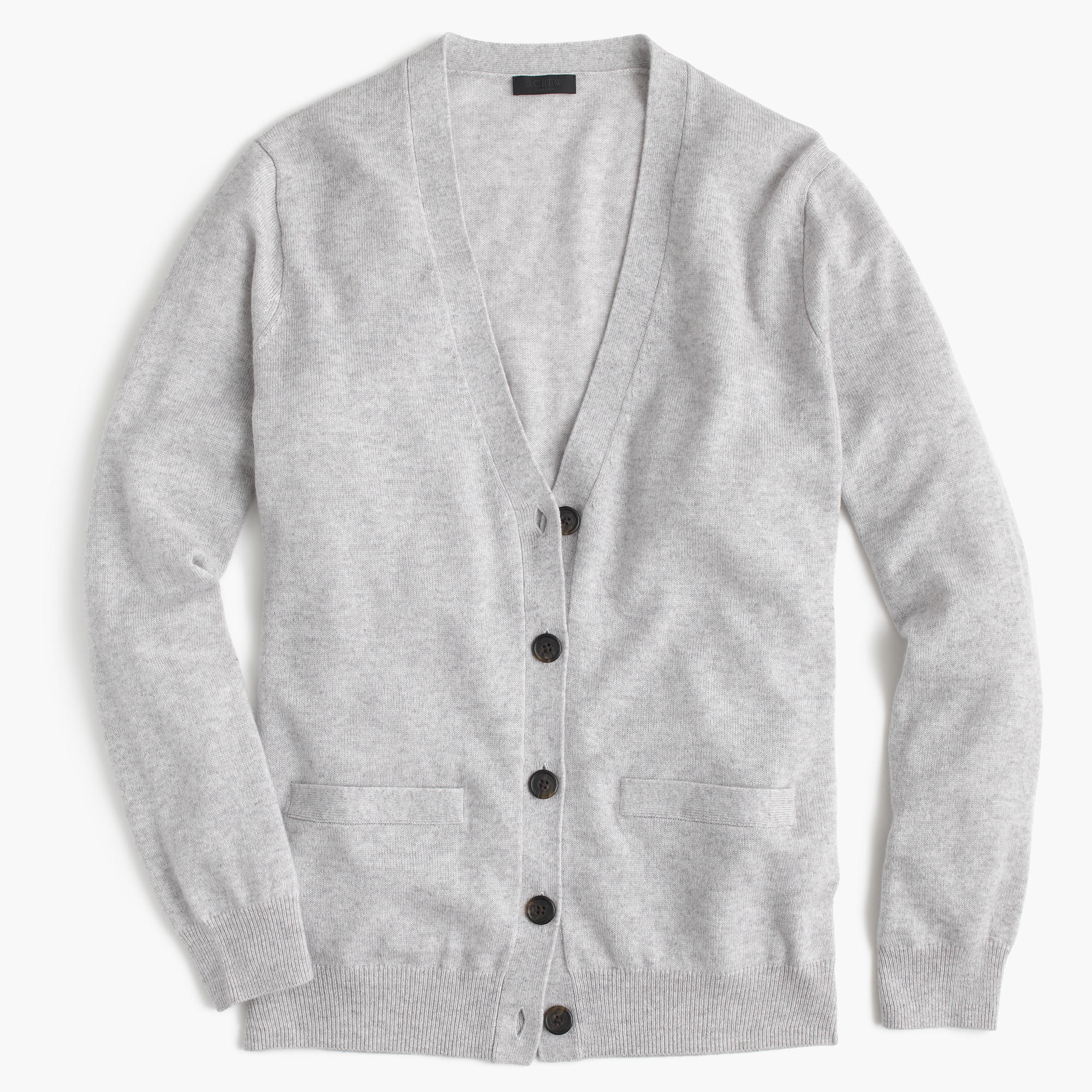 J.crew Italian Cashmere Boyfriend Cardigan Sweater in Metallic | Lyst