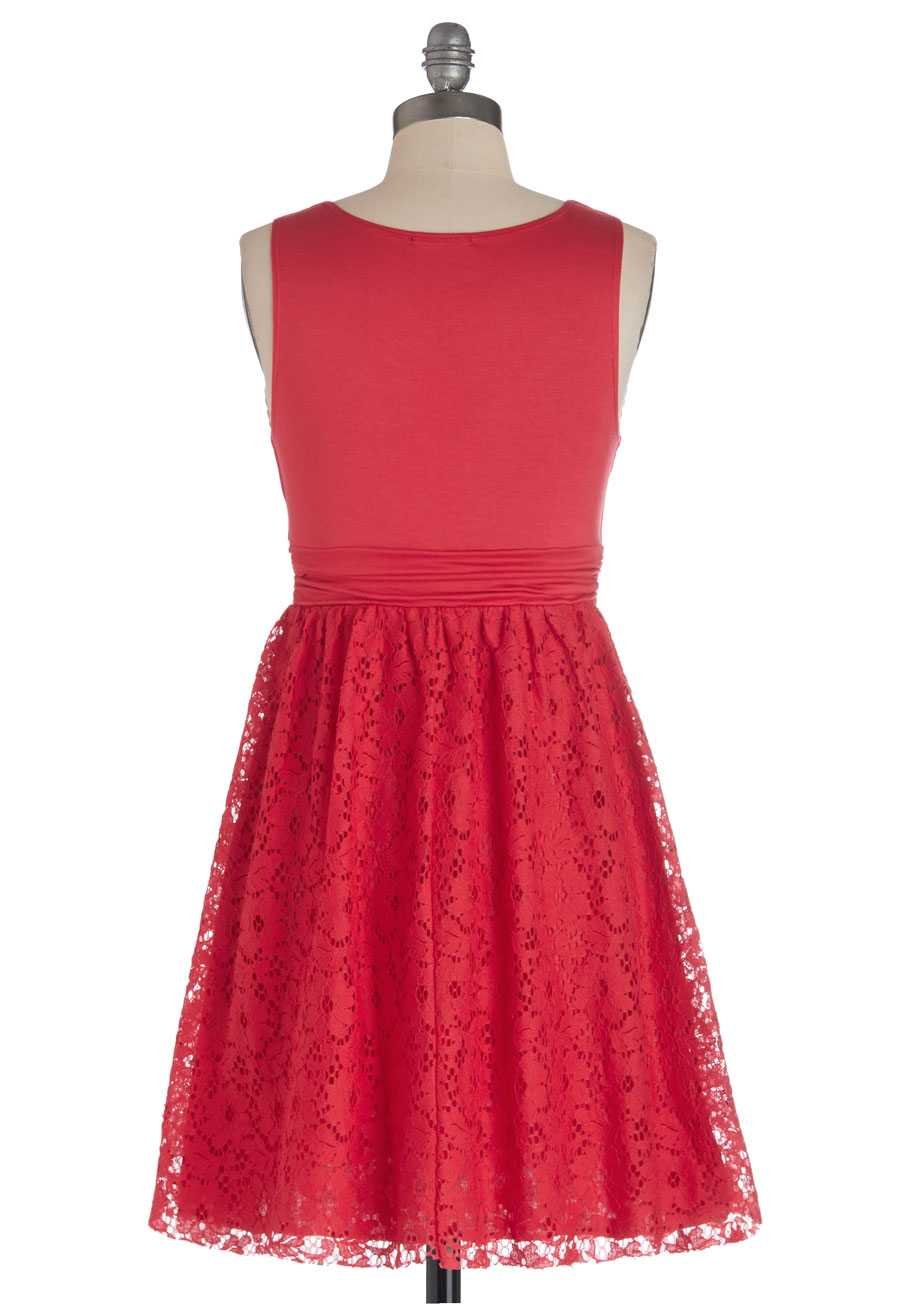 ModCloth | Red Hibiscus Iced Tea Dress in Plus Size | Lyst
