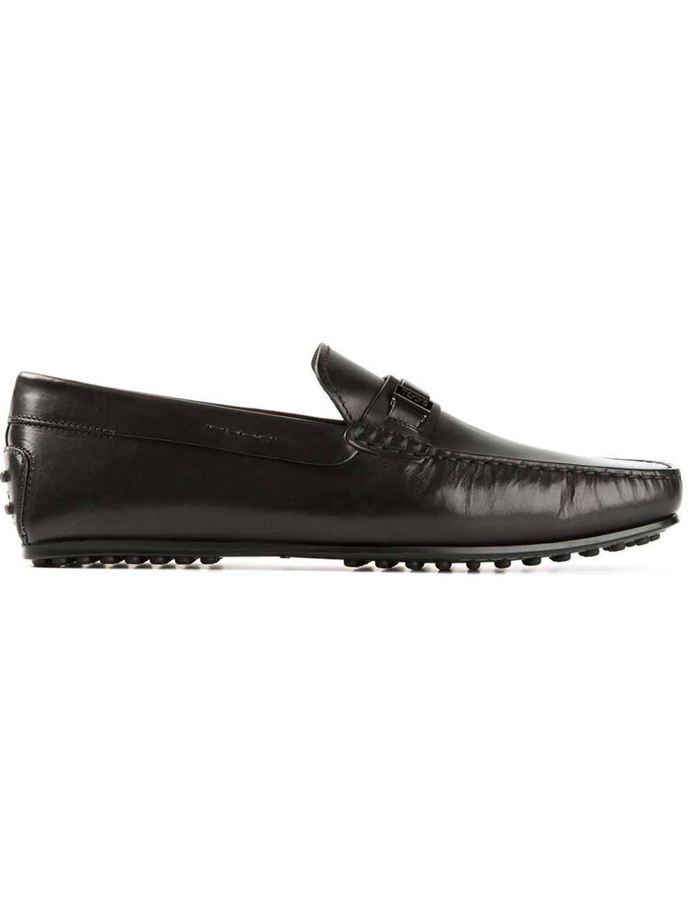 tod s classic driving shoes in black for lyst