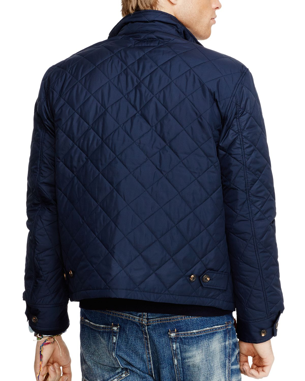 ralph lauren quilted barracuda jacket in blue for men lyst. Black Bedroom Furniture Sets. Home Design Ideas
