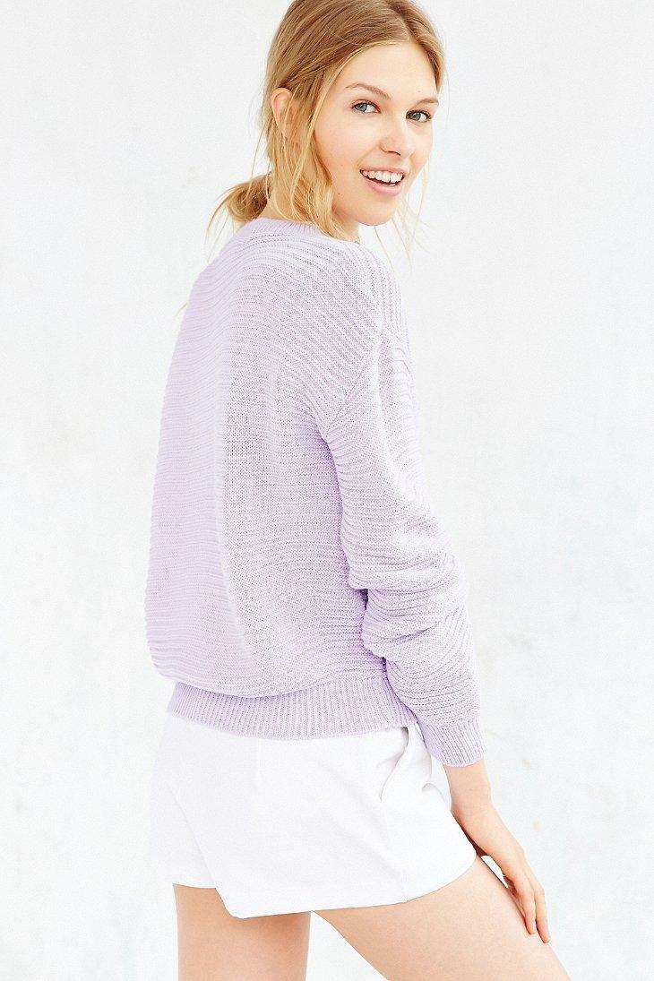 Lyst - Glamorous Textured Sweater in Purple - photo#2