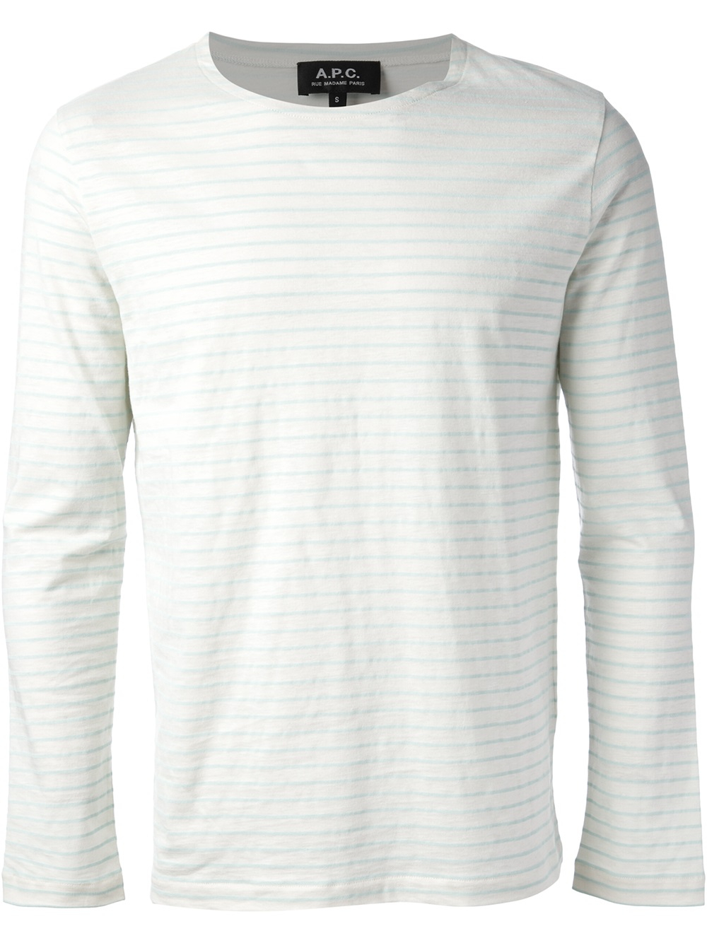 Lyst a p c 39 marini re 39 t shirt in natural for men for Apc white t shirt