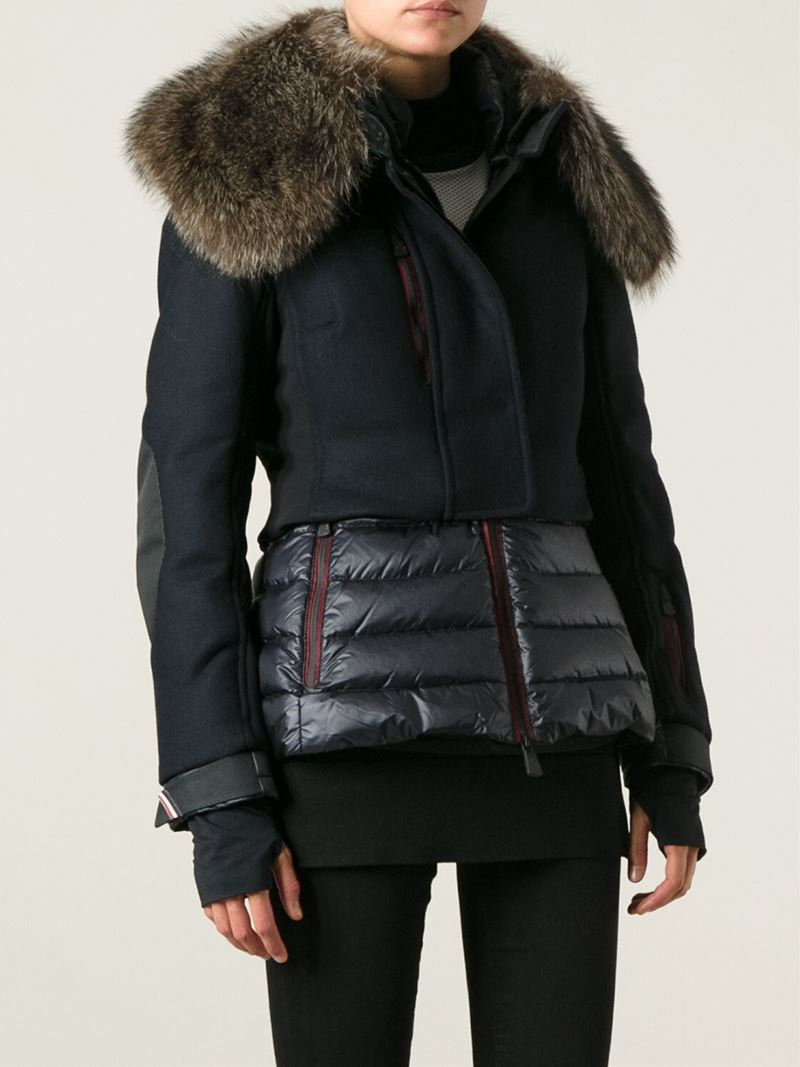 ... usa lyst moncler grenoble mende padded ski jacket in blue b4671 77504  ... bc2430cda