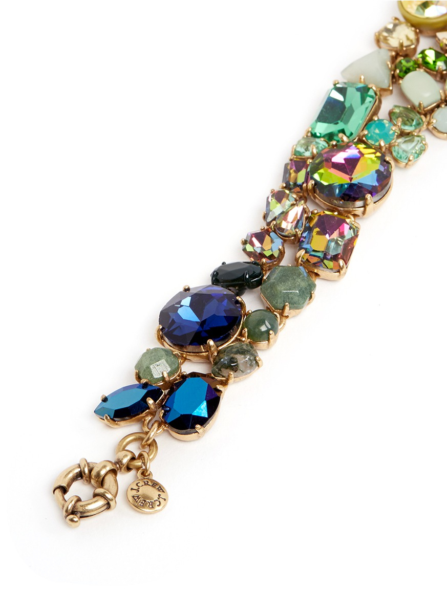 Lyst j crew ombr crystal bracelet for J crew jewelry 2015