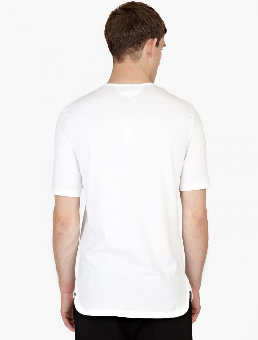helmut lang white cotton t shirt in white for men lyst. Black Bedroom Furniture Sets. Home Design Ideas