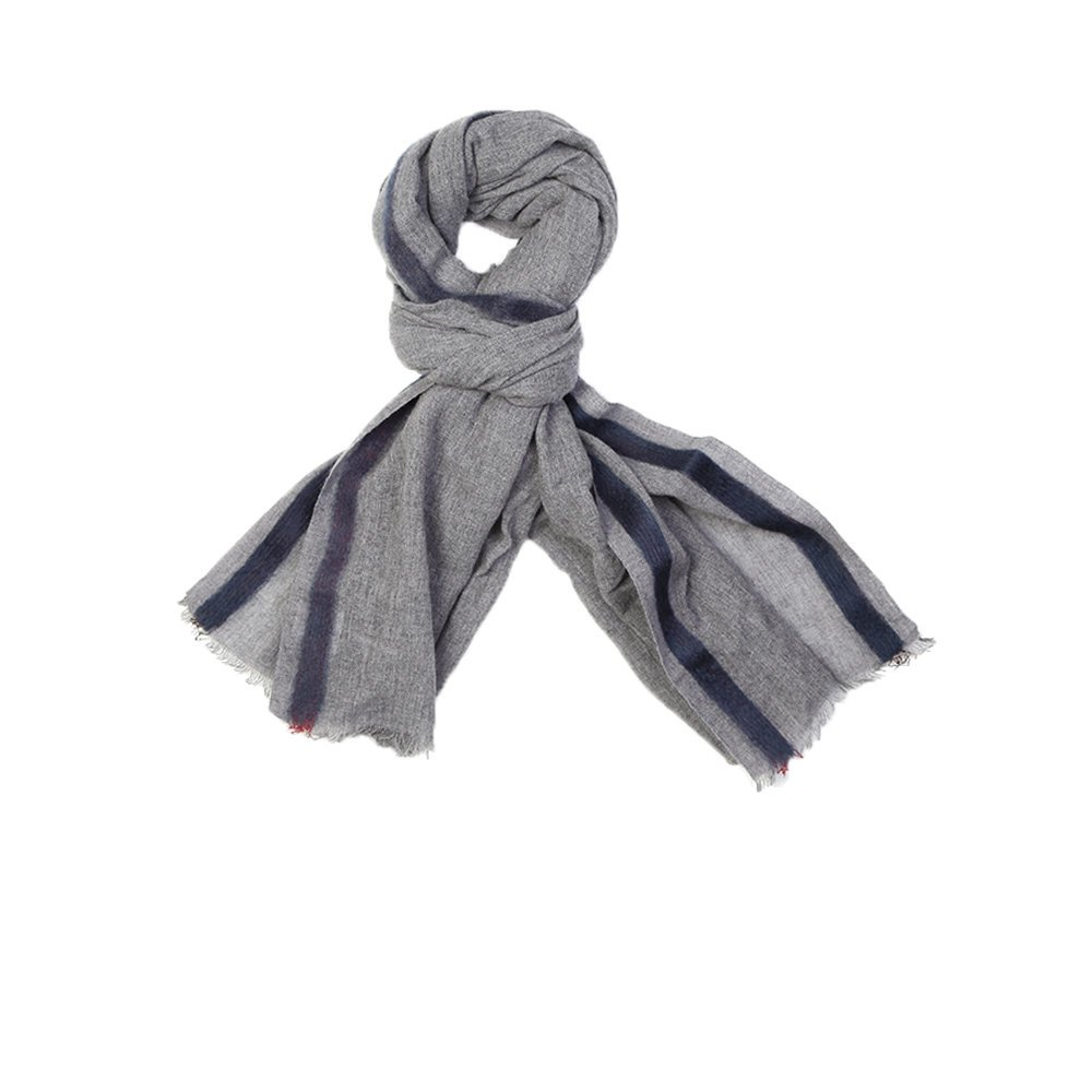 Wool and Cashmere Scarf, Grey, Black & White. Be the first to review this product. Add to Cart. Product. This unisex wool and cashmere scarf is a must have this autumn. It is super soft and stylish and prefect for dressing up any outfit while keeping you warm and snug. Looks great with a black jacket!