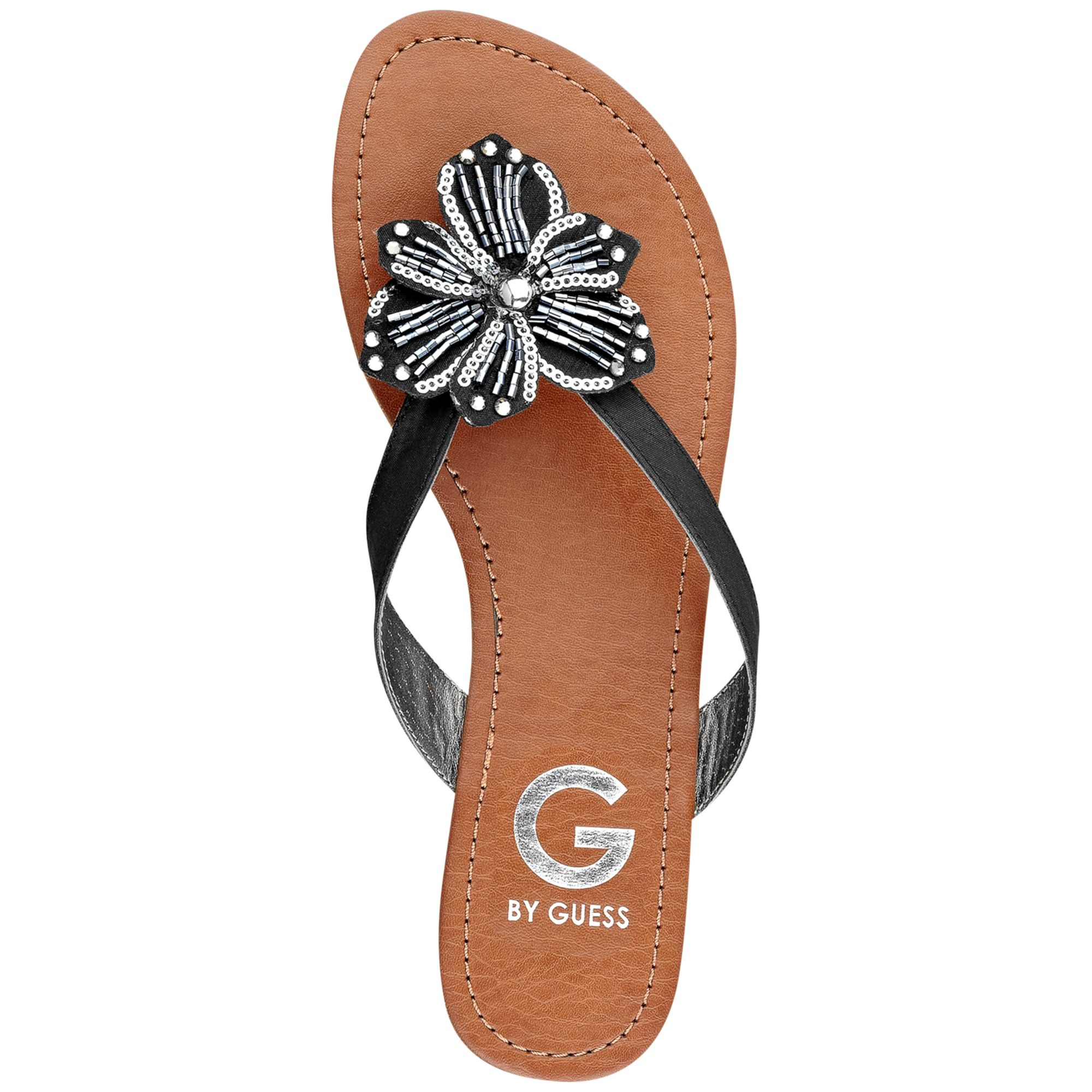 Lyst G By Guess Womens Lotuz Flat Thong Sandals In Black