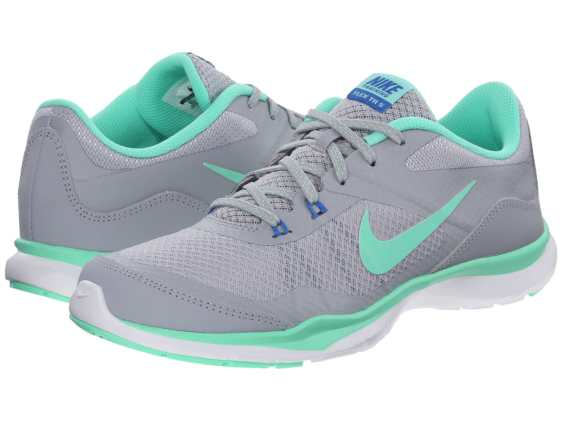 a7c3d0141ee4 Nike Flex Trainer 5 in Gray (Wolf Grey Green Glow Pure Platin)
