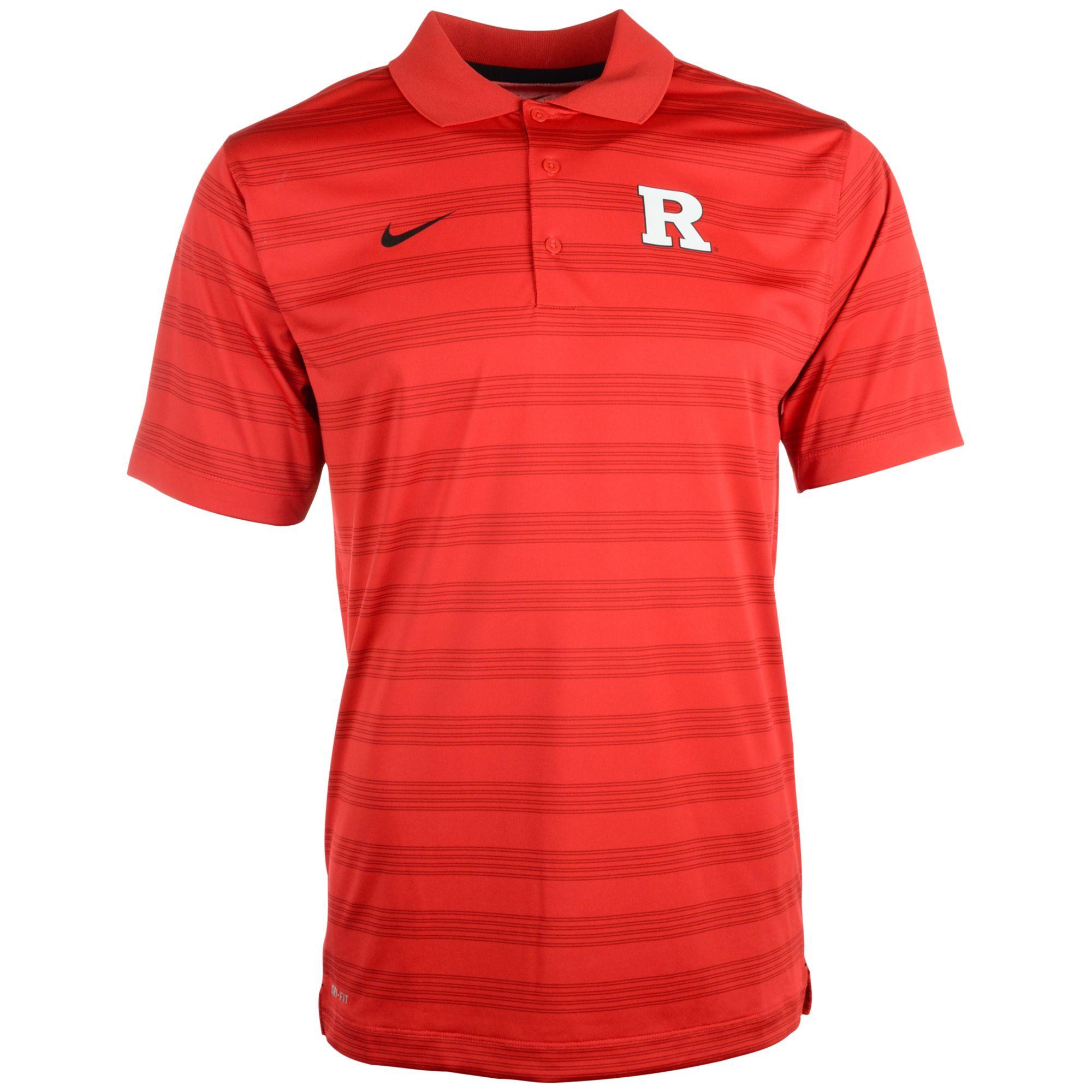 Nike Men 39 S Rutgers Scarlet Knights Dri Fit Preseason Polo