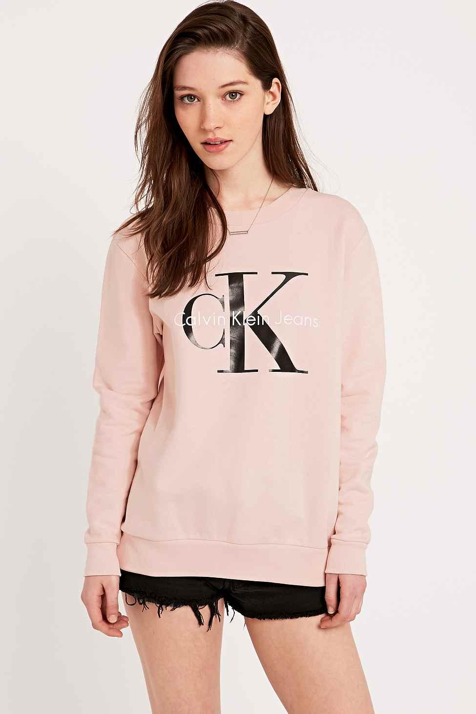 Lyst Calvin Klein Jeans Sweatshirt In Pink In Pink