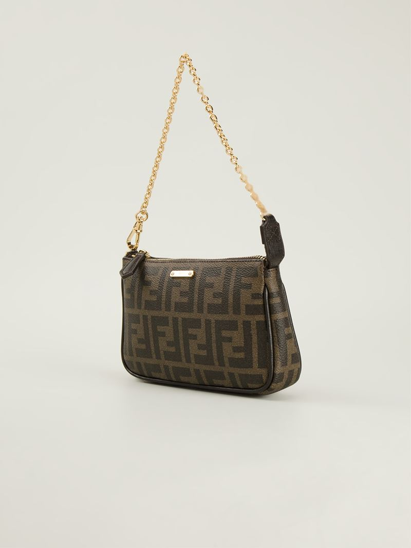 a90c6b4823 ... norway lyst fendi signature monogram shoulder bag in brown c7853 5919c  ...