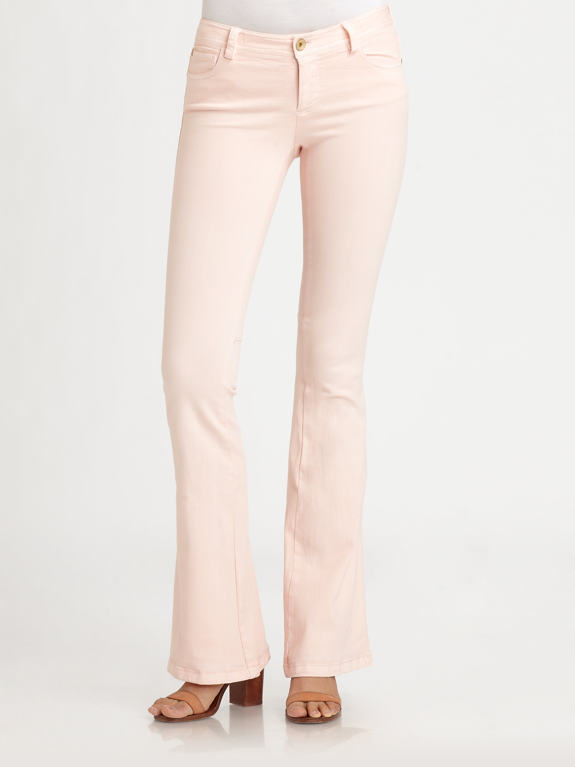 Alice   olivia Stacey Flare Jeans in Pink | Lyst