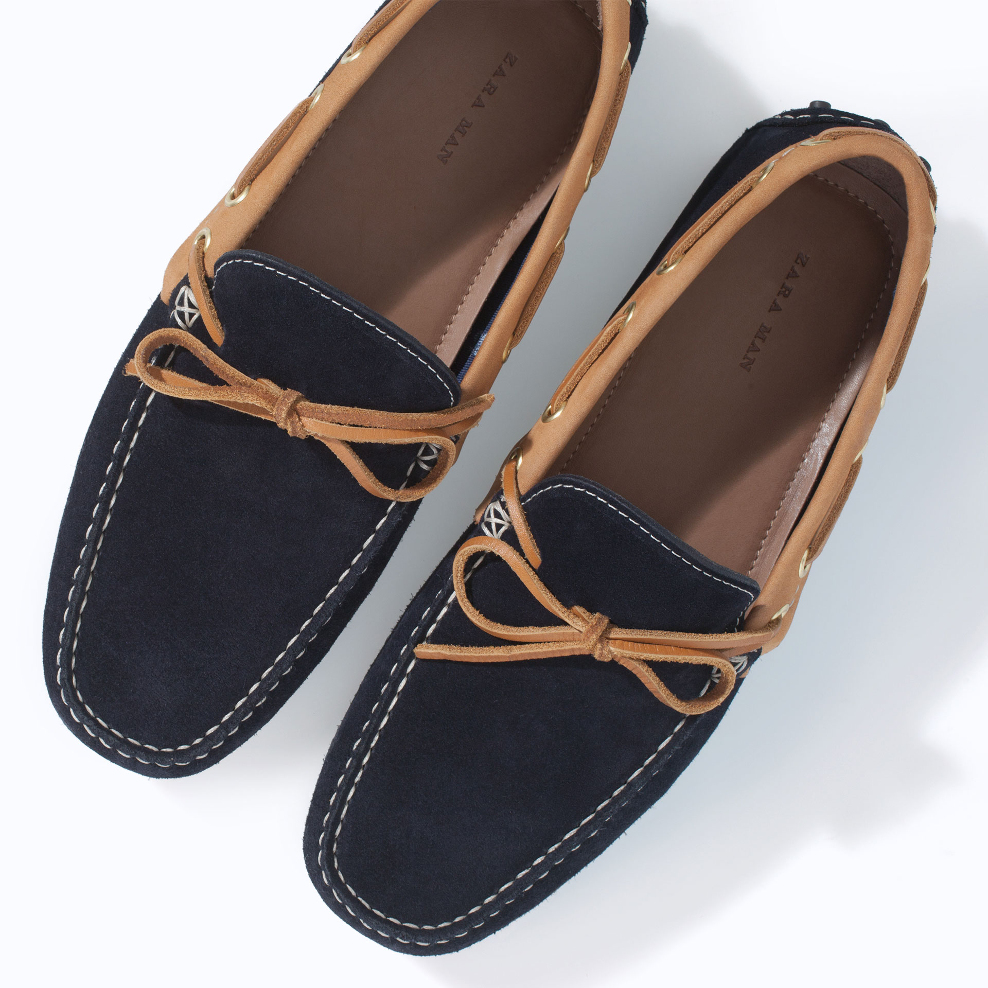 Zara Combination Driving Shoes In Blue For Men Lyst