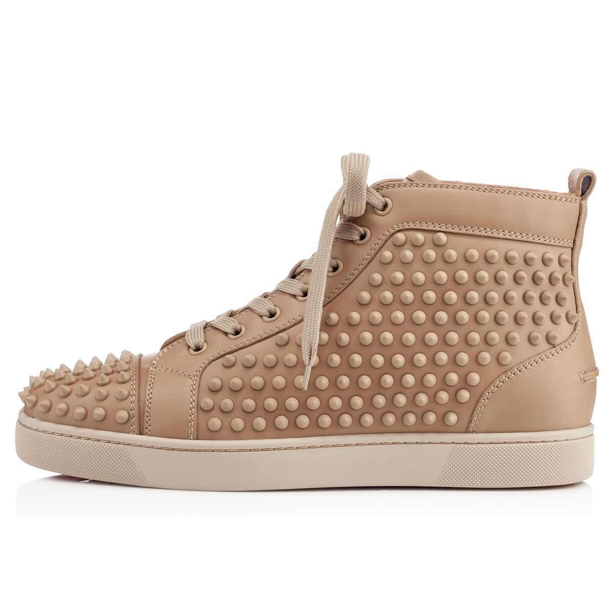 wholesale dealer b53ab bd122 Artesur » christian louboutin Louis Spikes High Top Beige ...