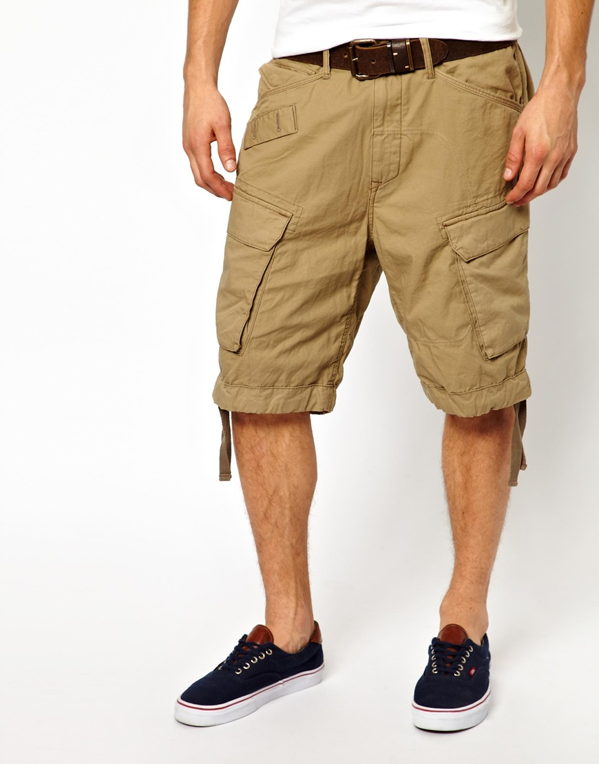 star raw natural g star cargo shorts rovic field loose fit field. Black Bedroom Furniture Sets. Home Design Ideas