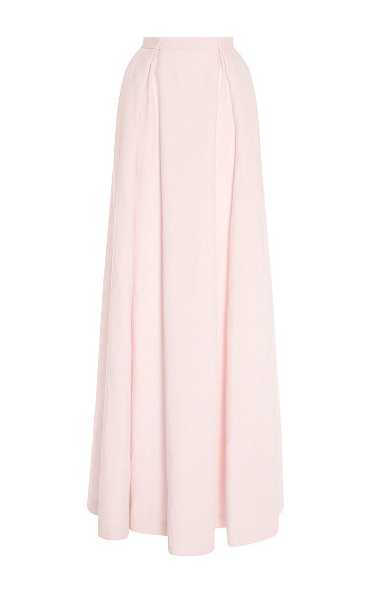 Flared Linen Skirt 119