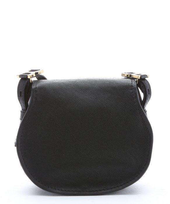 cloe handbags - Chlo�� Black Calfskin \u0026#39;marcie Nude\u0026#39; Small Saddle Bag in Black | Lyst