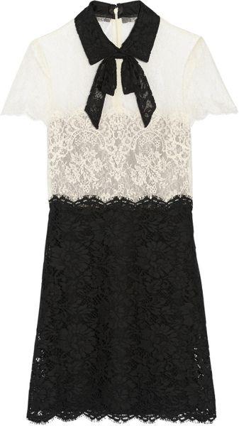 6a1e03a2ad3 Valentino White Lace Mini Dress