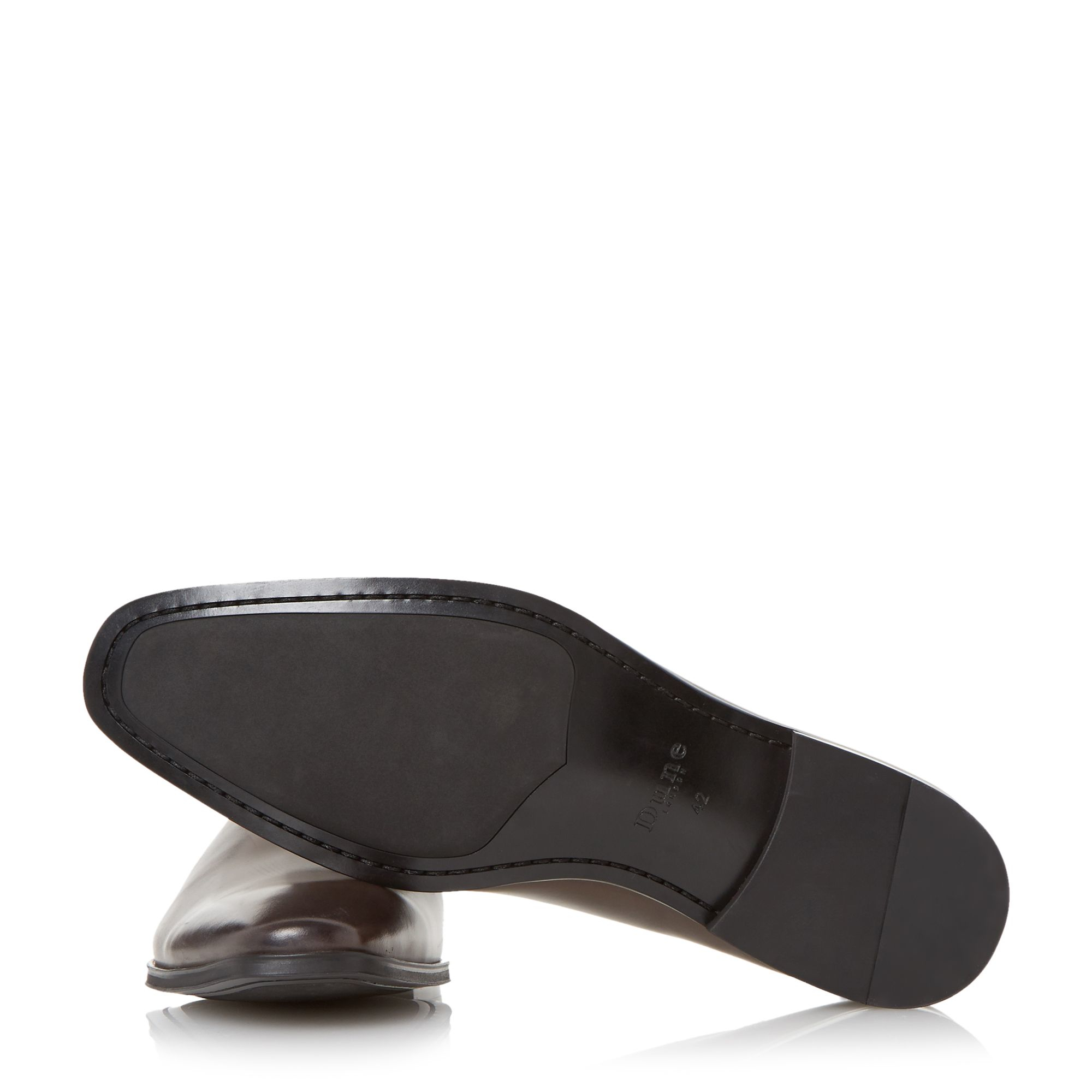 Square Toe Leather Sole Shoes With Suit