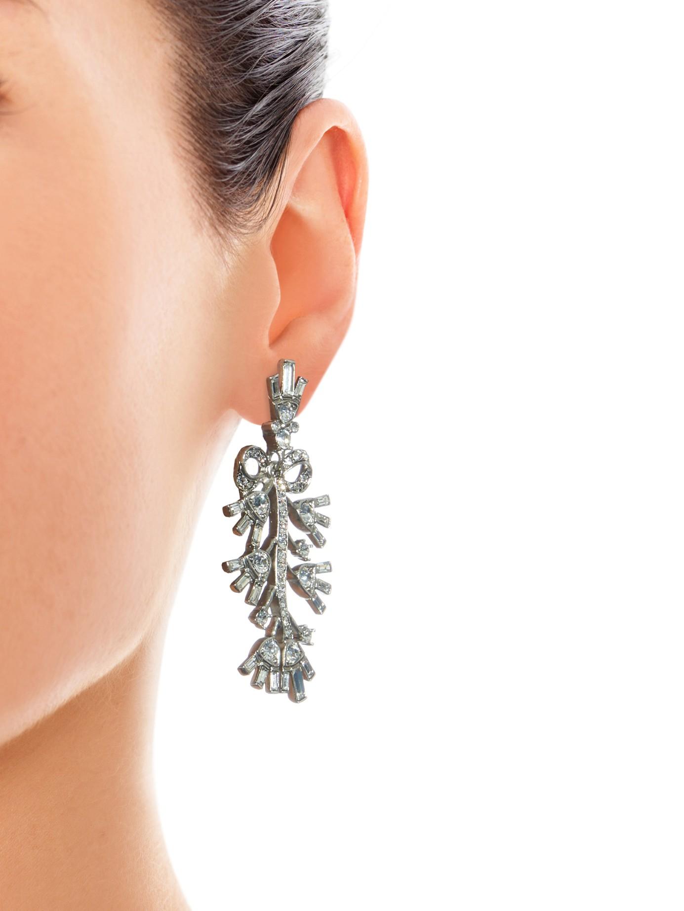 Crystal embellished earrings Oscar De La Renta wQTkDk4