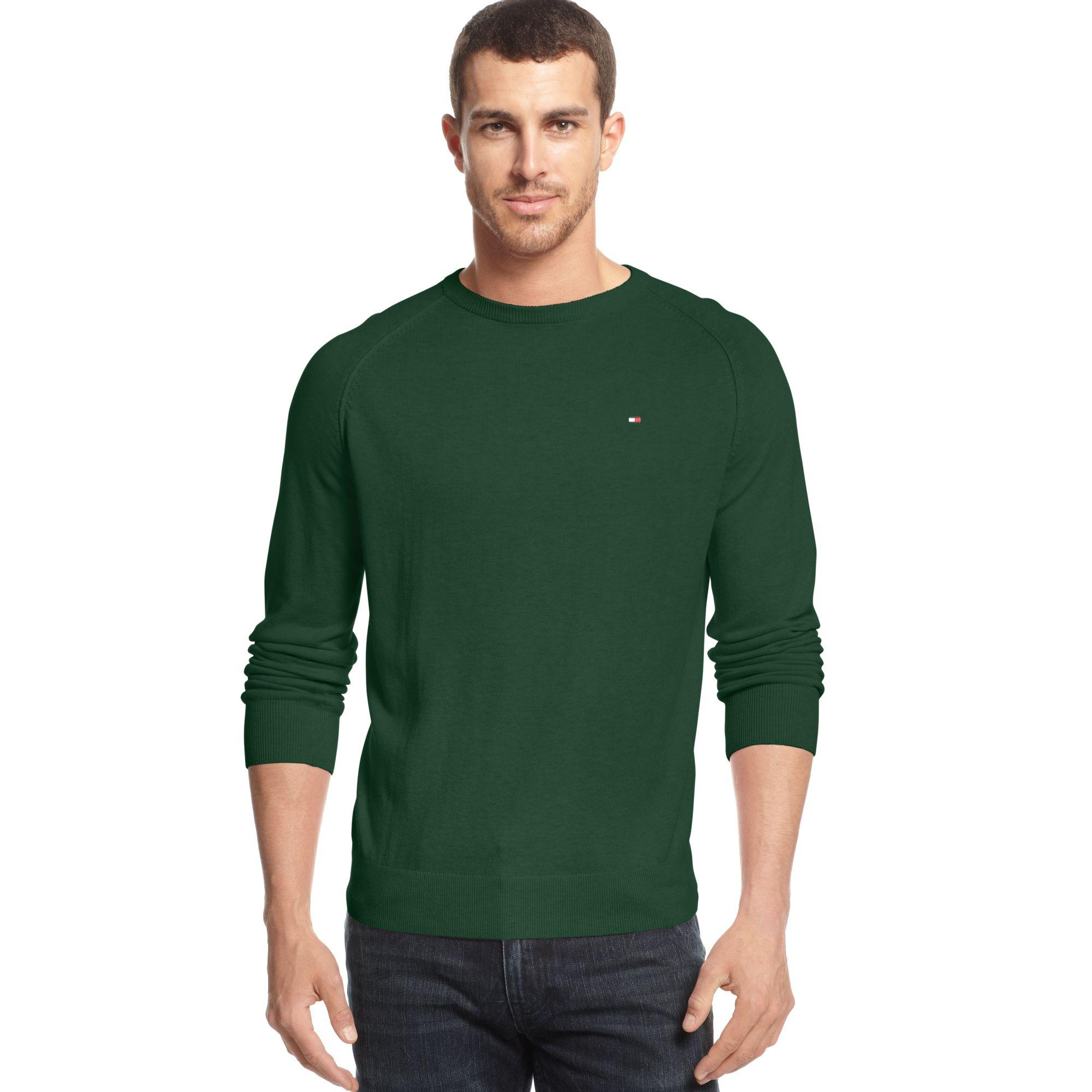 tommy hilfiger american crewneck sweater in green for men lyst. Black Bedroom Furniture Sets. Home Design Ideas