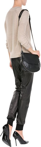 Buy DSquared² Men's Black Leather Jogging Pants. Similar products also available. SALE now on!Price: $1,