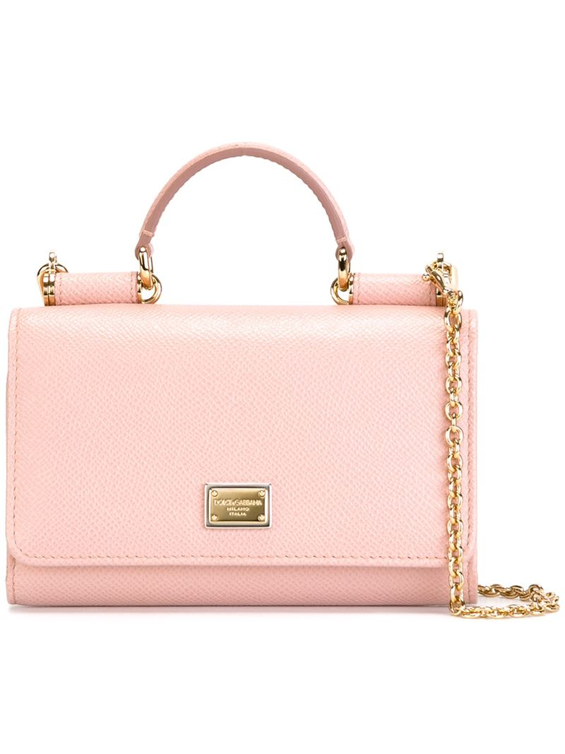 1d566aeaa3 Lyst - Dolce   Gabbana Mini  von  Wallet Crossbody Bag in Pink