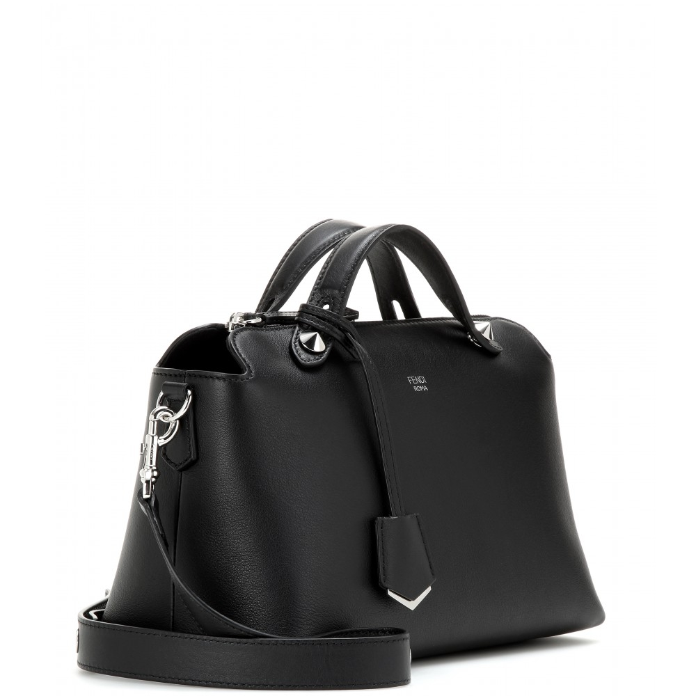 2de525ba55 ... coupon code for lyst fendi by the way small leather shoulder bag in  black fbf55 d8f9a