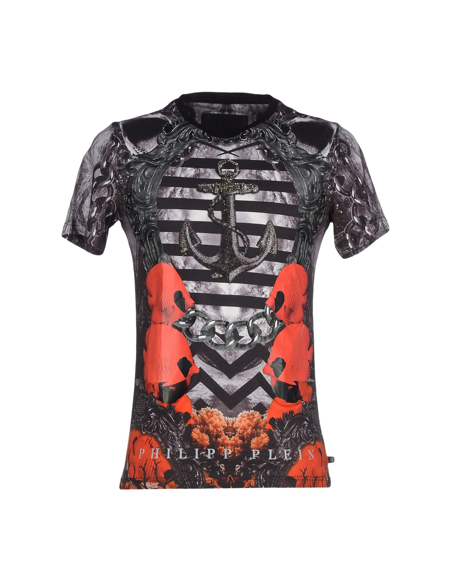 lyst philipp plein t shirt in black for men. Black Bedroom Furniture Sets. Home Design Ideas
