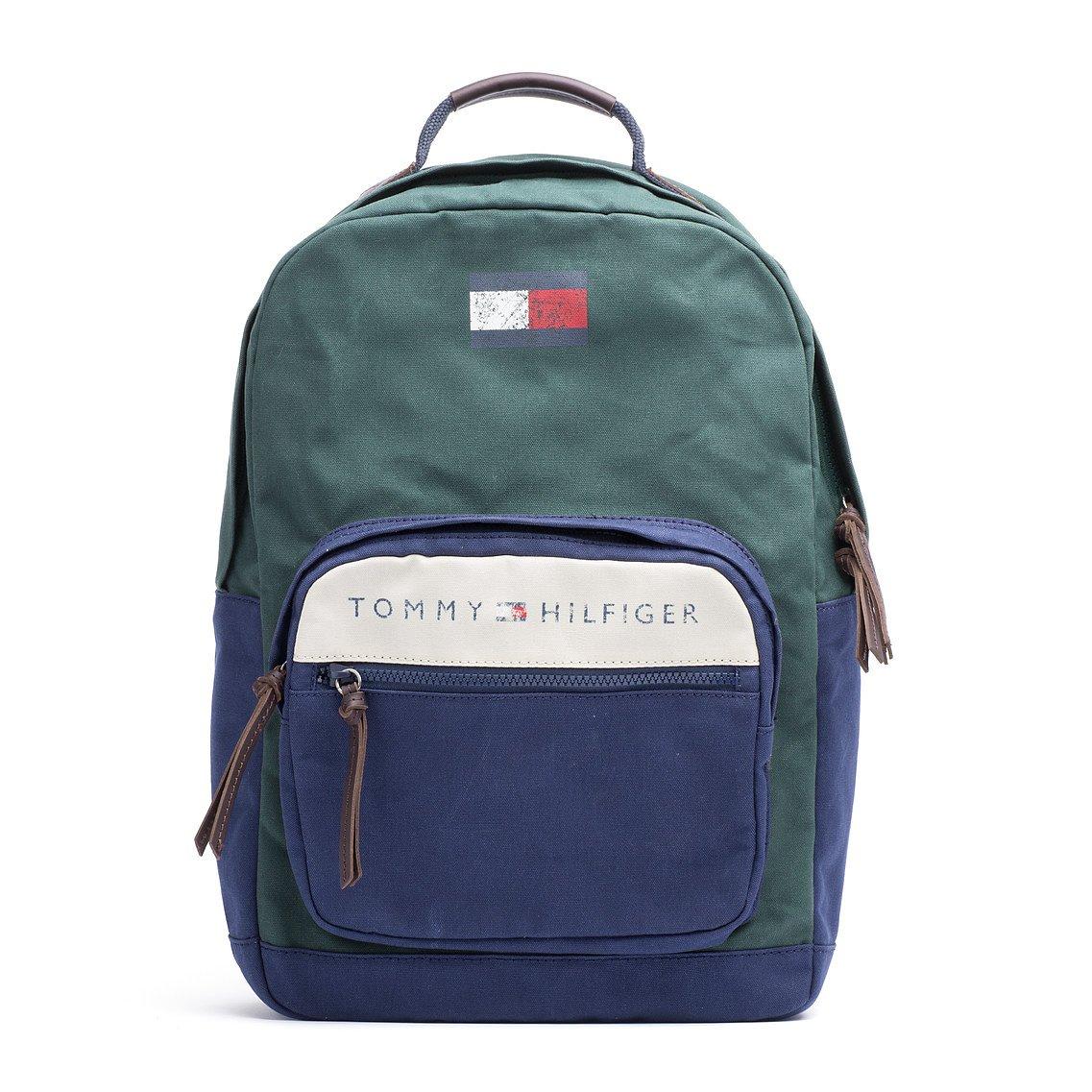 tommy hilfiger lance backpack in blue for men darkest. Black Bedroom Furniture Sets. Home Design Ideas