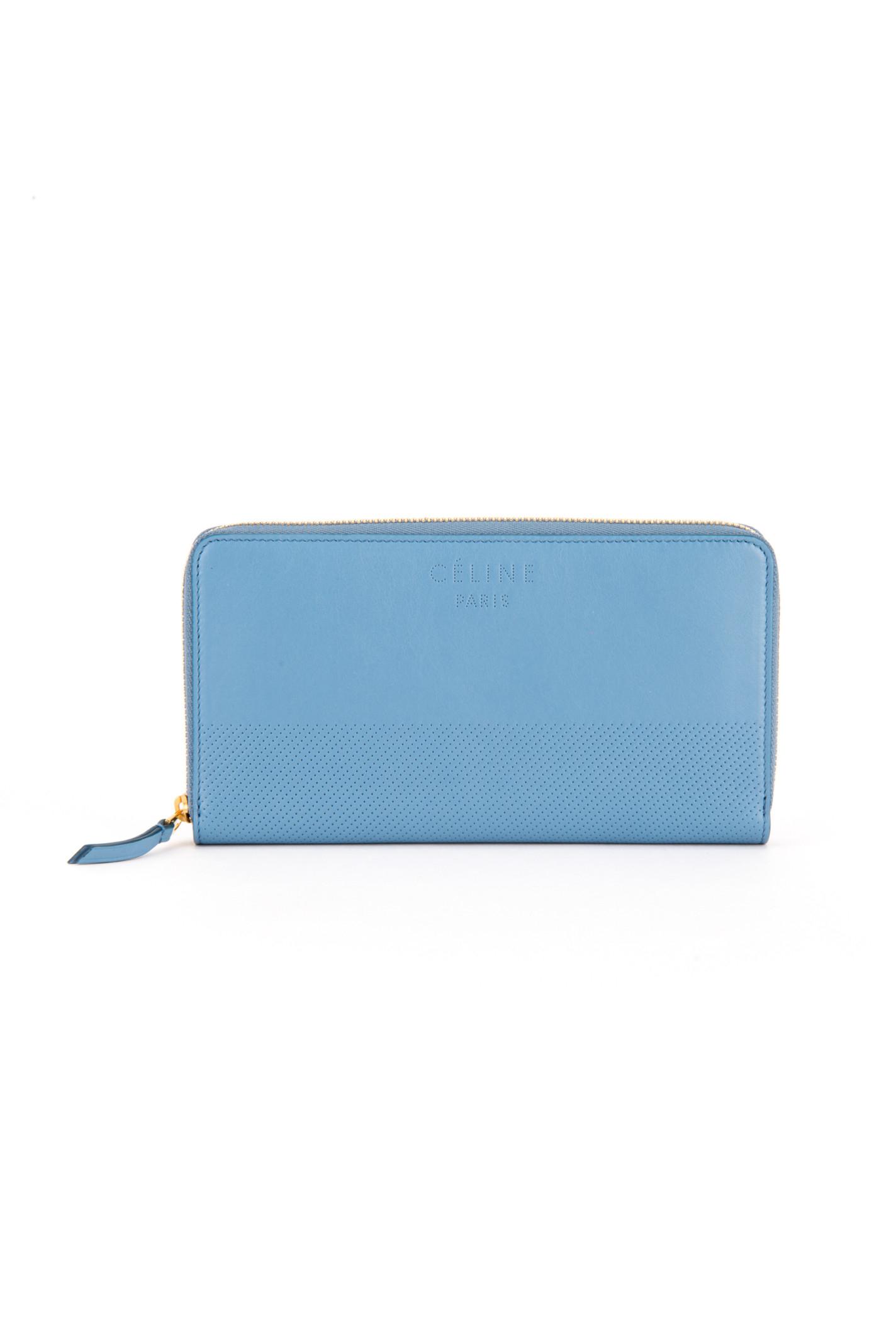 C��line Portafoglio Large Zipped Multifunction in Blue (MEDIUM BLUE ...