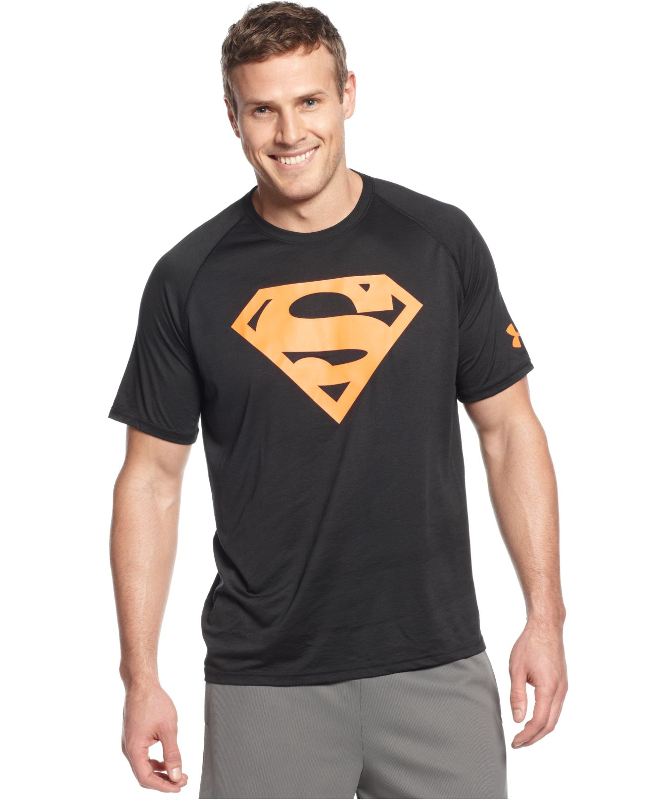 Lyst Under Armour Ae Neon Superman Graphic T Shirt In