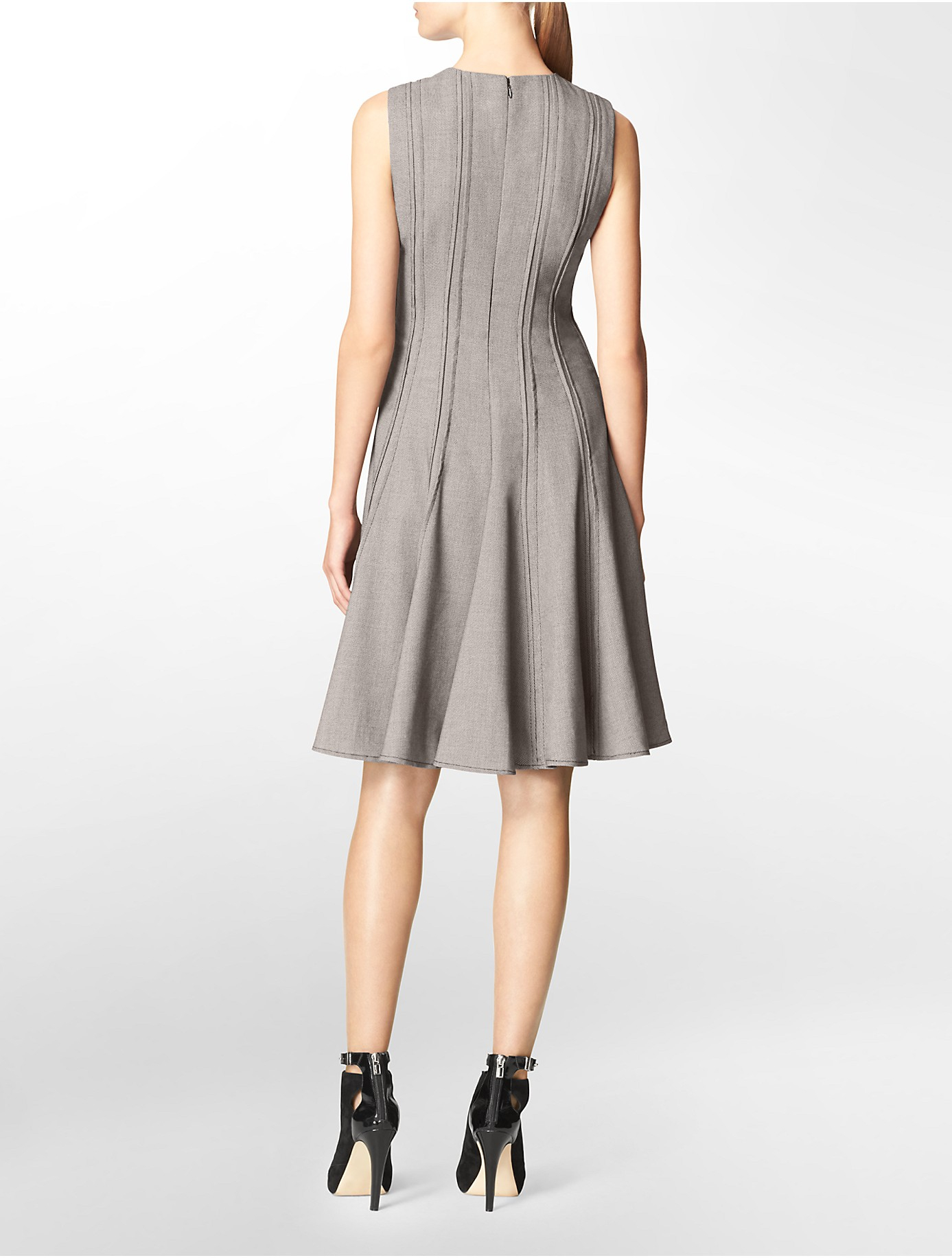 Lyst Calvin Klein White Label Pattern Seamed Sleeveless
