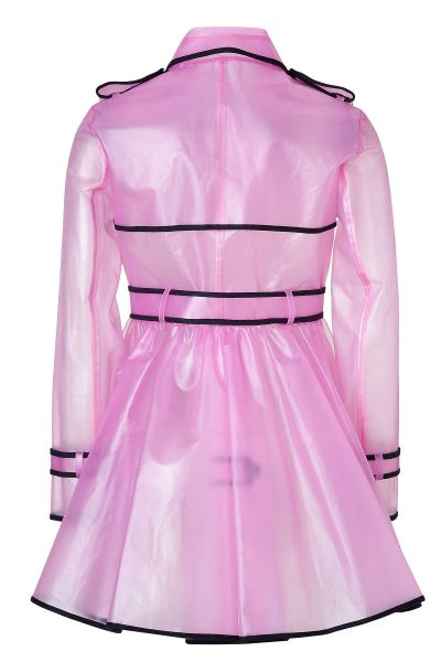 Red Valentino Clear Petunia Raincoat In Pink Red Lyst